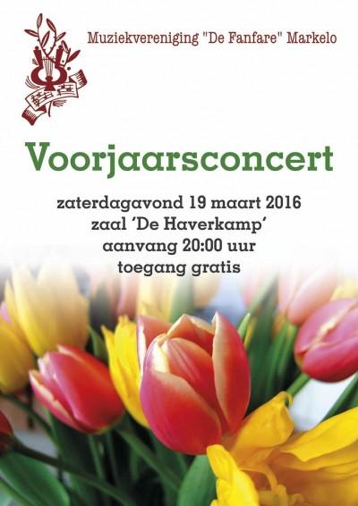 Fanfare affiche Voorjaarsconcert 19 maart 2016