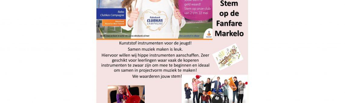 Rabo Clubkas Campagne steun de Fanfare!